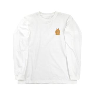 Capybara「Pokke」赤チューリップ2 Long sleeve T-shirts
