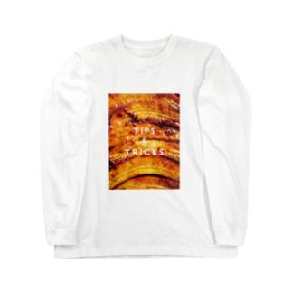 バナナアップサイドダウンケーキ Long sleeve T-shirts
