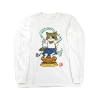 金剛猫士像 Long sleeve T-shirts