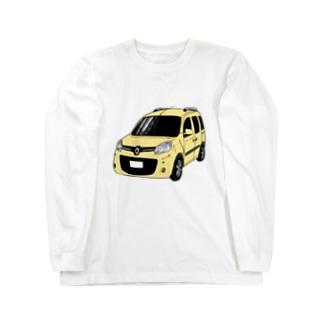 フレンチなクルマ(ペールイエロー) Long sleeve T-shirts