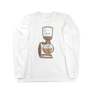 見つめ合うサイフォン Long sleeve T-shirts