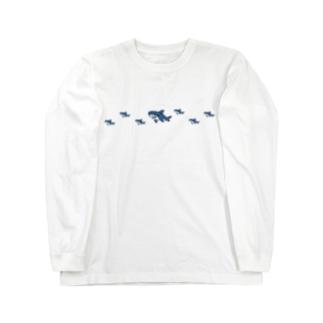 シンプルなSameの群れ Long sleeve T-shirts