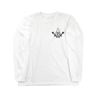 バーバーばばの釣り日記・例のマーク Long sleeve T-shirts