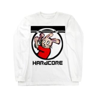 ハードコアうさぎ Long sleeve T-shirts