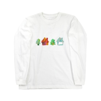 wamiのおうちと木 Long sleeve T-shirts