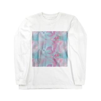 幾何学模様 Long sleeve T-shirts