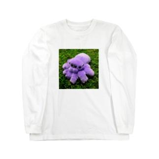 パープルファーのハエトリグモ Long sleeve T-shirts