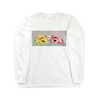 ハエトリグモのぬいぐるみ  Long sleeve T-shirts
