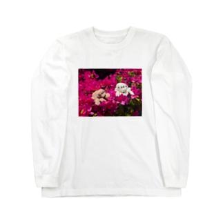 ハエトリグモ ぬいぐるみ  Long sleeve T-shirts