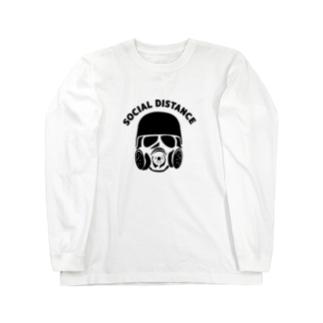 Life Design Factory PINCEのソーシャルディスタンス Long sleeve T-shirts