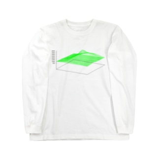 3D Mt.Fuji Long sleeve T-shirts