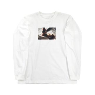 みーちゃんのひなたぼっこ。 Long sleeve T-shirts