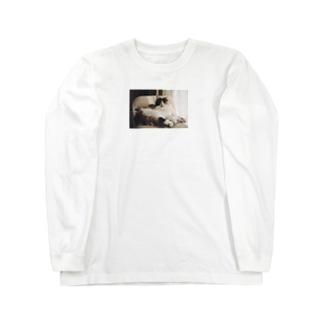 くつろぎみーちゃん。 Long sleeve T-shirts