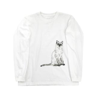 シャムネコ Long sleeve T-shirts