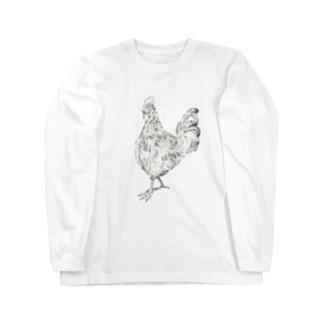 ニワトリ Long sleeve T-shirts