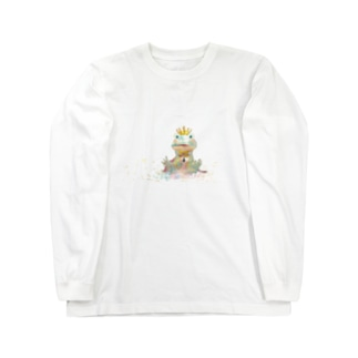 カエル王子 Long sleeve T-shirts