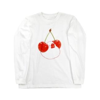 さくらんぼ&文鳥  Long sleeve T-shirts