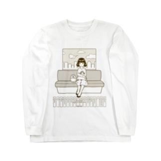 マコロモの今すぐお家に帰りたい。 Long sleeve T-shirts