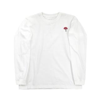 ワンポイント 毒きのこ Long sleeve T-shirts