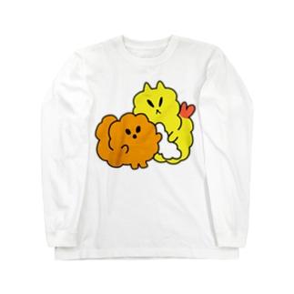 おしゃれな揚げ物姉弟 Long sleeve T-shirts