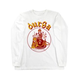DURGA 赤×黄色(ズレ) Long sleeve T-shirts