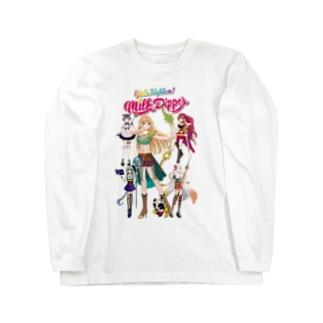 Milk☆Dipperのガールズファイター!ミルクディッパー☆06☆Hitomi Long sleeve T-shirts