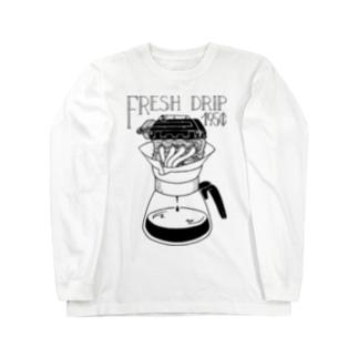 Drip ロンT Long sleeve T-shirts