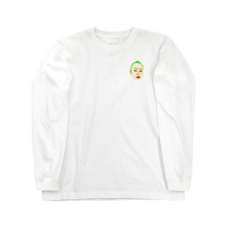 ミニミニ俺の顔を見ろ!!!! Long sleeve T-shirts