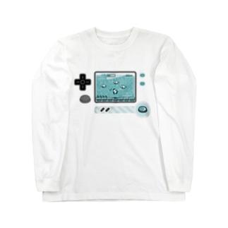 ボタンいっぱいパンダゲーム Long sleeve T-shirts