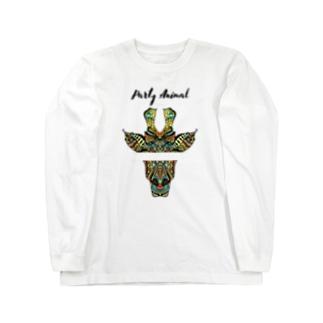 PARTY ANIMAL GIRAFFE Long sleeve T-shirts
