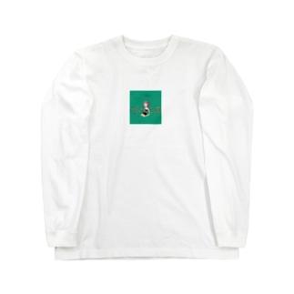 緑の女の子 Long sleeve T-shirts