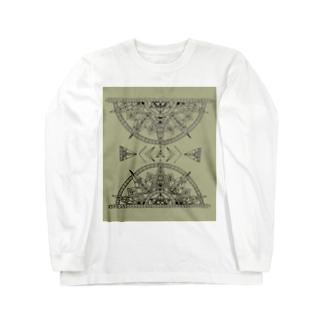 power -渋- Long sleeve T-shirts