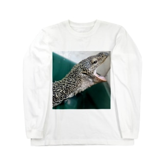 おミズぐっず(マングローブオオトカゲ) Long sleeve T-shirts