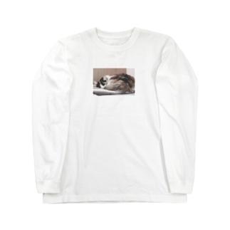 すやすやみーちゃん。 Long sleeve T-shirts