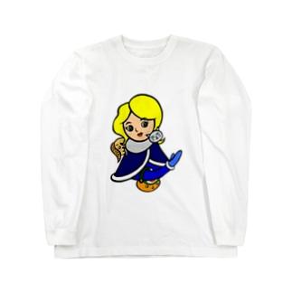 ネコマフラーのお姉さん Long sleeve T-shirts