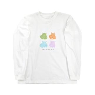 カラフルメンダコ Long sleeve T-shirts