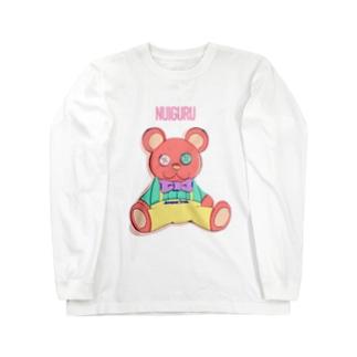 NUIGURU ピンクベア Long Sleeve T-Shirt