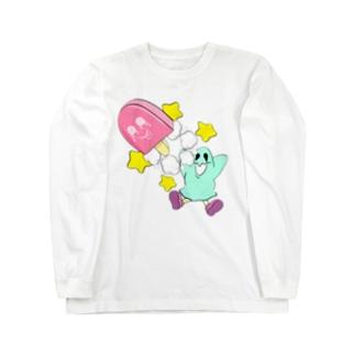おばけちゃんアイスポップTシャツ Long Sleeve T-Shirt
