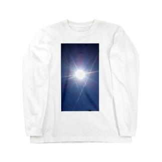太陽と飛行機雲 Long sleeve T-shirts