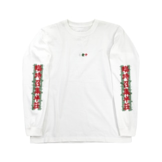 三元牌「素碧紅」 Long sleeve T-shirts