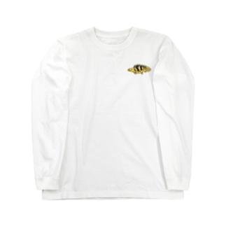 ドット絵怪魚 エンドリケリー Long sleeve T-shirts