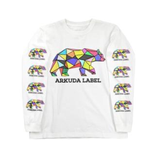 ARKUDA LABEL 黒文字 Long sleeve T-shirts