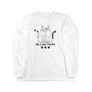 We Love Socks モノクロ Long sleeve T-shirts