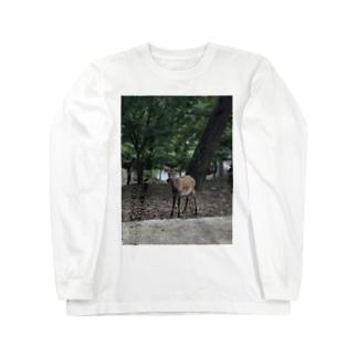 奈良公園の鹿さん Long sleeve T-shirts