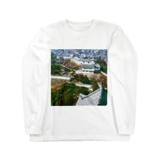 日本の城:姫路城 Japanese castle: Himeji Castle Long sleeve T-shirts