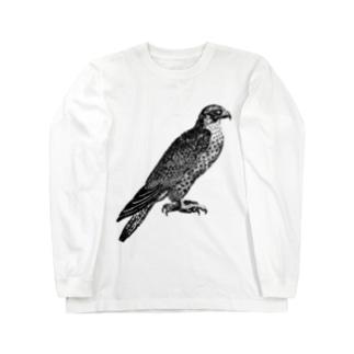 ハヤブサ <アンティーク・プリント> Long sleeve T-shirts