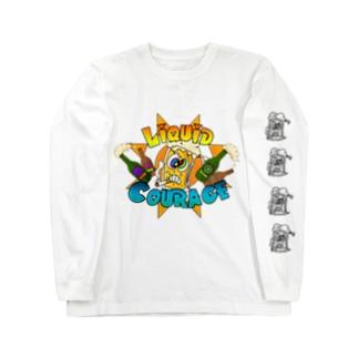 ビールくん カートゥーン L/S Long sleeve T-shirts