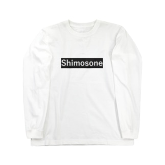 ShimosoneTシャツホワイト Long sleeve T-shirts