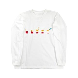 フライドポテト Long sleeve T-shirts