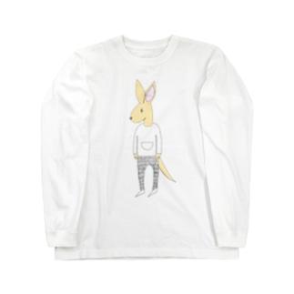 kangarooカラーバージョン Long sleeve T-shirts